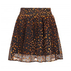 Skirt Palais Burn Out Star Black