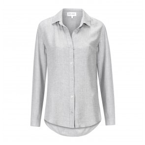 Shirt Button Down Silvergrey