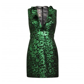 Dress Abee Green Lurex Flower