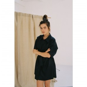 Scrunchie Louise Black