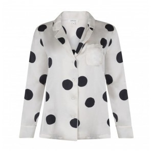Pyjama Shirt Bluemoon Off White Dots