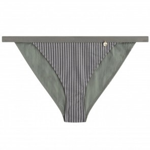 Bikini Brief Wild Rose Grey Stripes