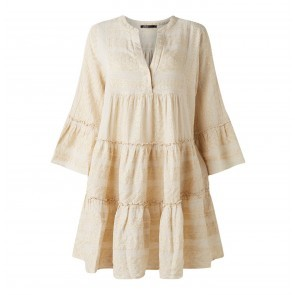 Short Dress Zakar With Embroidery Off White
