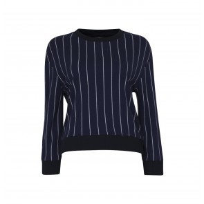 Sweat Jannet Navy Cream Pinstripe