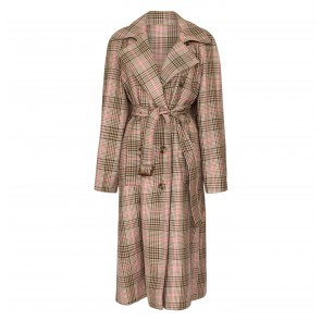 Coat Dannell Camel Pink Check