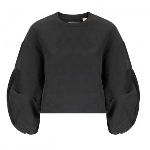 Sweater Flounce Crew LMC Washed Black