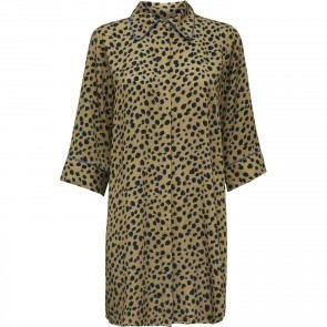Dress Lilo Camel/Blue Dots