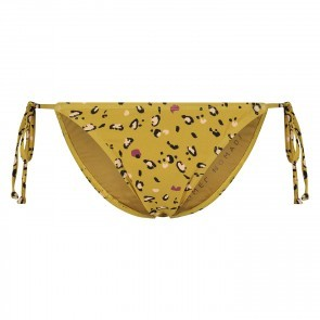 Bikini Bottom Leopard With Strings Amber Gold