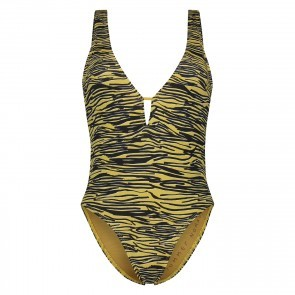 Swimsuit Zebra Low Back Amber Gold