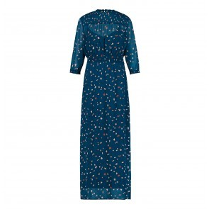 Maxi Dress Leopard Ink Blue