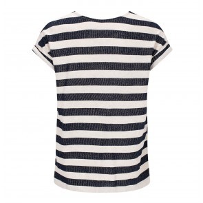 Top Holly Navy Stripe
