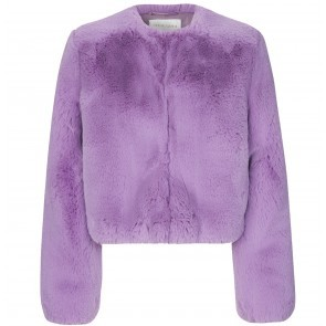Faux Fur Jacket Randy Lilac