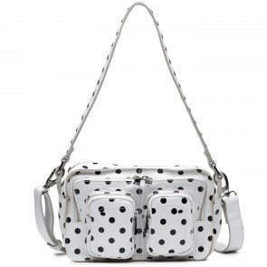 Shoulderbag Ellie White with Black Dots