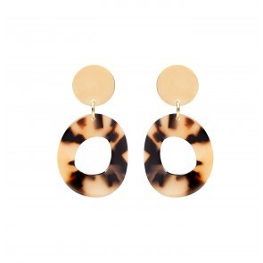 Earrings Petra Tortoise Shell Resin