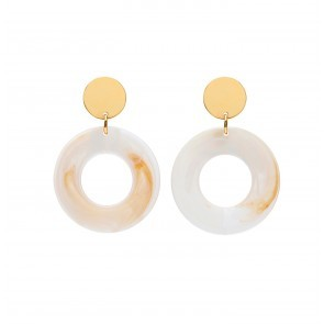 Earrings Talum Resin White