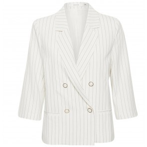 Blazer Aga White Black Stripes