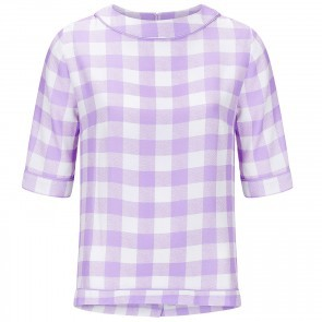 Top Carrpeplos Lilac White Checkered