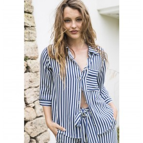 Blouse Villa Vera Navy White Stripes