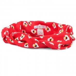 Bandeau Bardot Red Flower