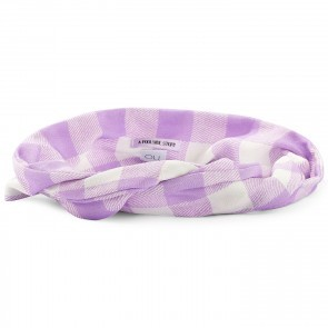 Bandeau Bardot Lilac White Checkered