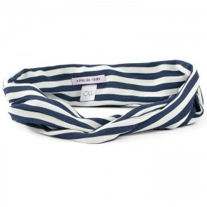 Bandeau Bardot Navy White Stripes