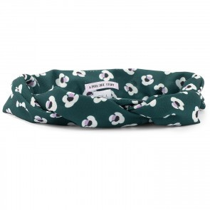 Bandeau Bardot Green Flower
