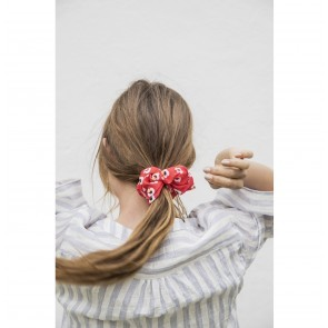 Scrunchie Jackie Red Flower