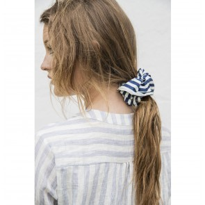 Scrunchie Jackie Navy White Stripes