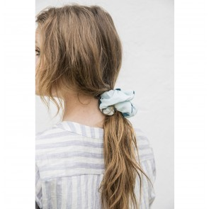 Scrunchie Jackie White Green Polkadot