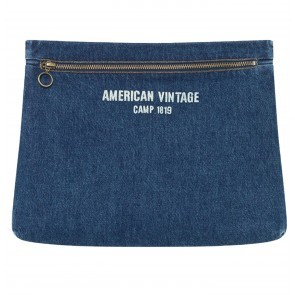 Denim Clutch Ozistate Dark Blue