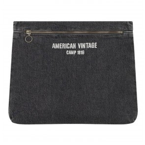 Denim Clutch Tizanie Grey Dusty