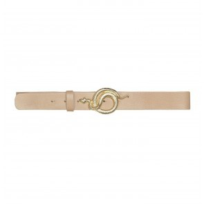 Leather Belt Milo Nude Gold