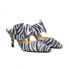 The Gloria Belt Pump Zebra