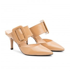 The Gloria Belt Pump Camel