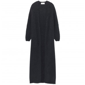 Long Cardigan Manina Carbon Melange