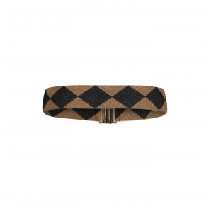 Belt Lilah Tobacco Black Check