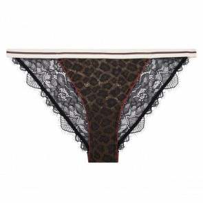 Brief Wild Rose Lace Black