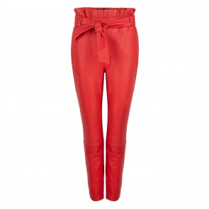 Leather Pants Duncan Lipstick Red