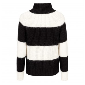 Highneck Sweater Chanella Black Stripes
