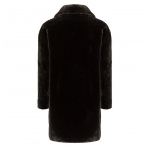 Midi Coat Soft Fake Fur Bottle Green