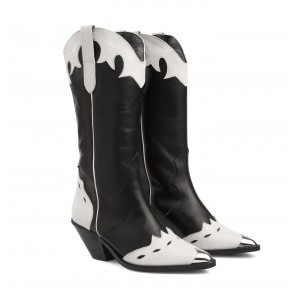 Texas Boot Black & White