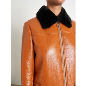 Coat Kristen Tan/Black fur