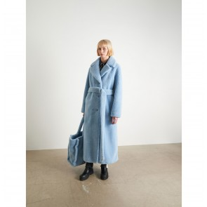 Long Teddy Coat Faustine Sky Blue