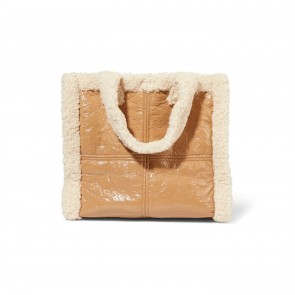 Shearling Paper Bag Lolita Beige/Off White