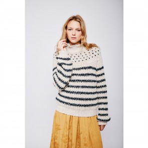 Turtle Neck Sweater Mantequillou Stripes