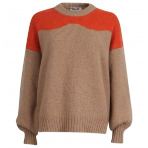 Sweater Cirkeline Camel n Orange