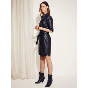 Leather Dress Baroon Black