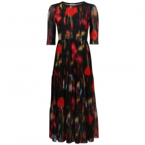 Dress Jones Black Floral Blur