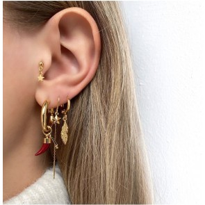 Earring Feather Gold