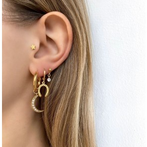 Earring Lucky Gold